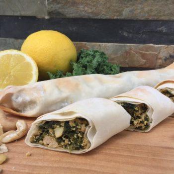 Blätterteig-Spinat-Schnecken-vegan